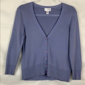 Loft soft lavender cardigan sweater